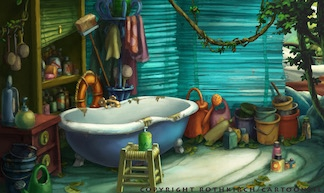 Background painting for Kleiner Dodo